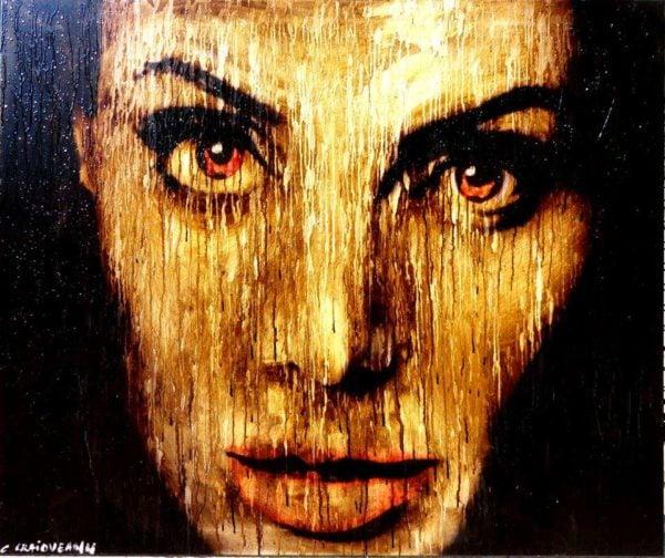 Angelina Jolie 2014 painting
