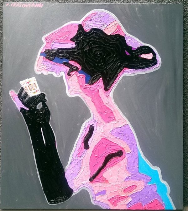 Poker Player painting