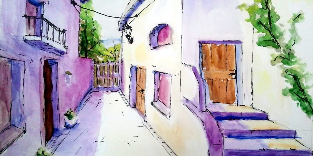 How To Paint With Watercolor Easy Painting Tutorial