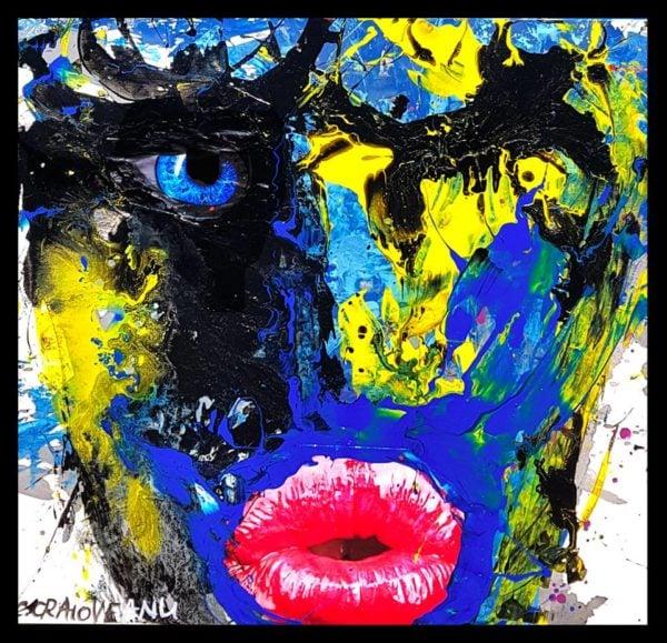 Eye – Kiss You – Abstract Acrylic Painting