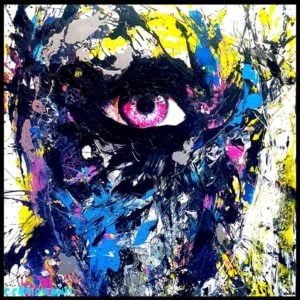 Eye – Kiss You – Abstract Acrylic Painting