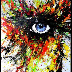 Eye Kiss U – Abstract Painting