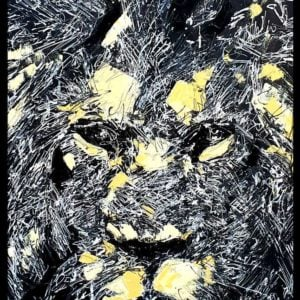 Lion Abstract Painting 2020
