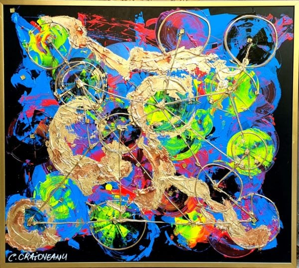 Synapses Abstract Painting
