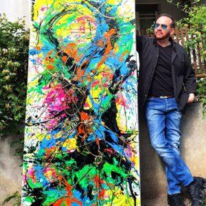 Serotonin 2020 Abstract Painting