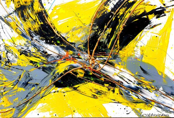 Dopamine Yellow Abstract Painting