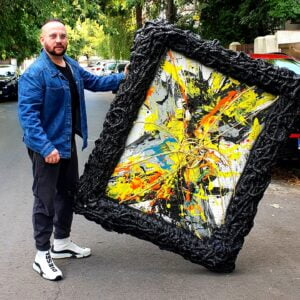 Adrenaline Painting with Custom Frame